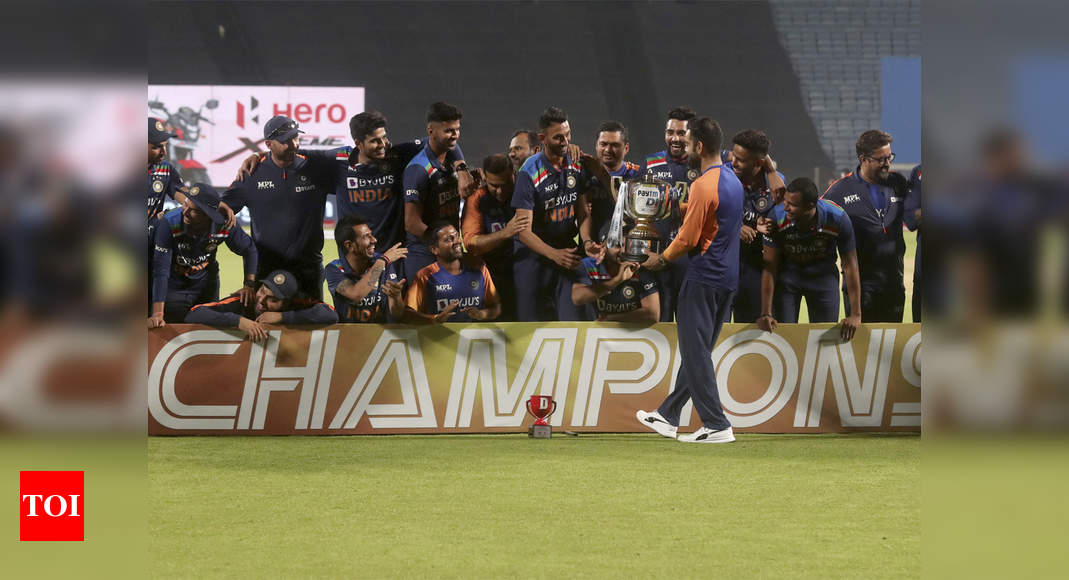 India vs England, 3rd ODI: India beat England by 7 runs in a thriller, clinch series 2-1 | Cricket News – Times of India