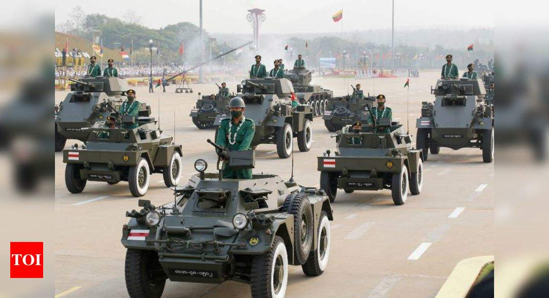 Amid crackdown, India & 7 other countries attend Myanmar military parade – Times of India