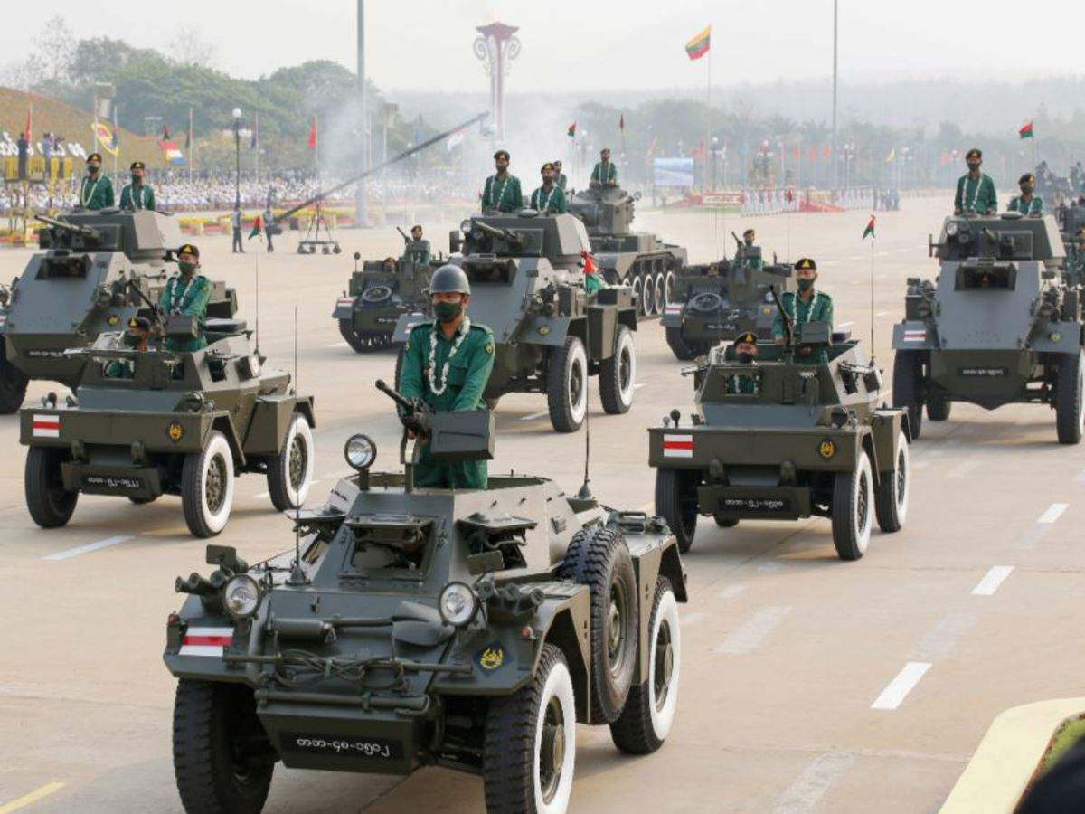 Myanmar Military Parade: Amid crackdown, India & 7 other countries attend Myanmar  military parade | World News - Times of India