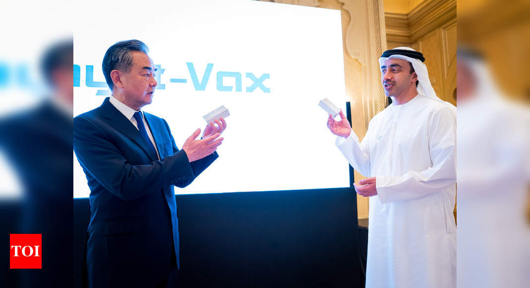 New UAE plant to make Covid-19 vaccine from China's Sinopharm – Times of India