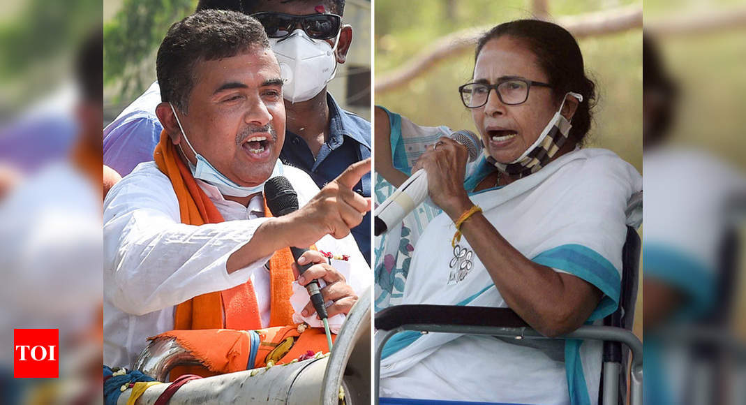 West Bengal polls: Second phase campaigning ends, all eyes on Mamata vs Suvendu in Nandigram - Times of India