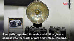 An exhibition of rare and vintage cameras