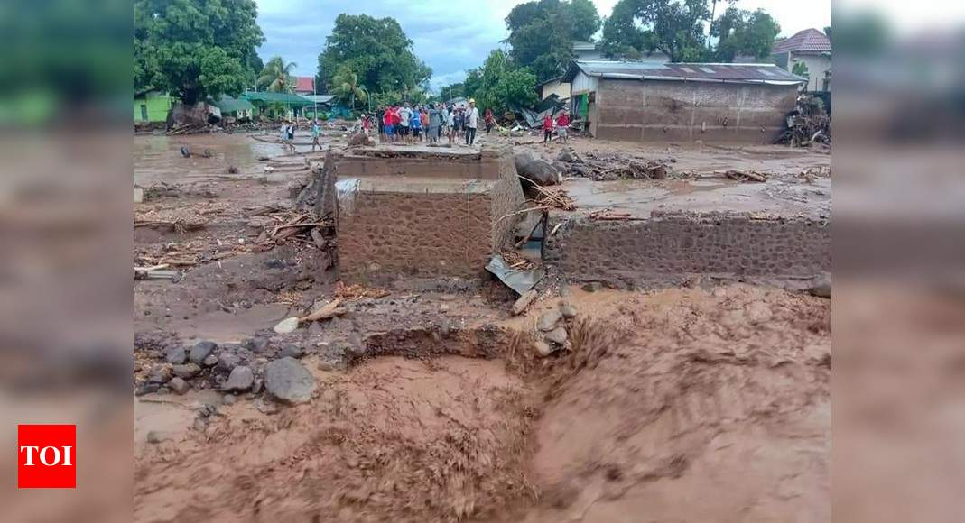 Indonesia flash floods eliminate 44, toll anticipated to increase - Times of India