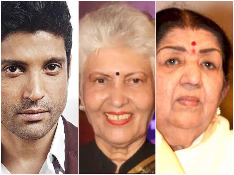 Farhan Akhtar, Lata Mangeshkar, and other B'wood celebs mourn the demise of veteran actress Shashikala
