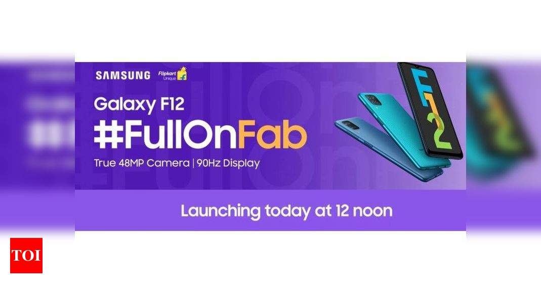 Samsung Galaxy F12 and Galaxy F02s launch in India today at 12pm – Times of India