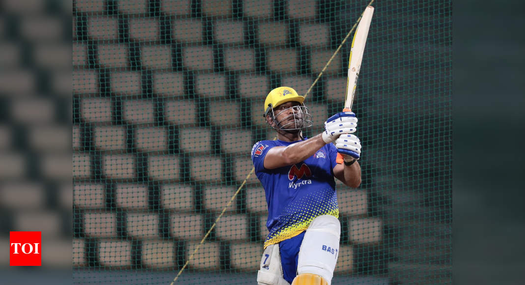 IPL 2021: It's raining sixes at CSK nets as skipper Dhoni looks in ominous touch | Cricket News – Times of India