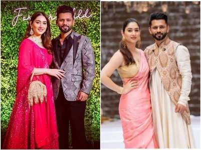 Rahul-Disha dress up as groom and bride