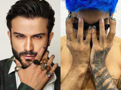 Male nail art is the next big trend and these famous men are flaunting it in style