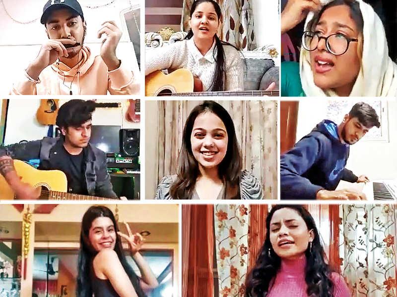 (L to R) Row 1: Raj Anand,  Simran Verma, Prisha Dhatwalia,Row 2: Arsh Nair, Yashi Chawla (Everyuth Miss Happy Skin), Akshat Sharma Row 3: Ishita Bhatia and Devanshi Singh