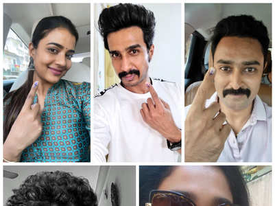 K'Town celebs' mandatory selfies after voting