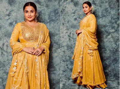 Vidya Balan's mango yellow anarkali is gorgeous