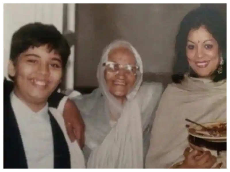 """Karan Johar shares a throwback picture with his grandmother, says """"When I flashed a smile with no mid-life crisis pout!"""