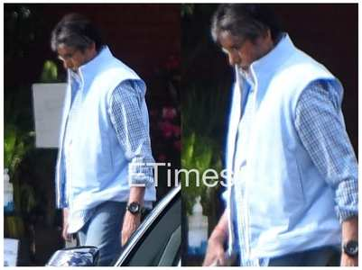 Big B gets clicked on the sets of 'Goodbye'