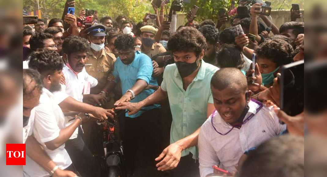 Actor Vijay's polling day cycle ride sends social media into a tizzy - Times of India
