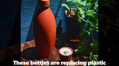 Terracotta bottles get a colourful makeover with decorative motifs