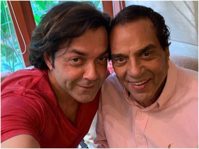 Bobby Deol and Dharmendra