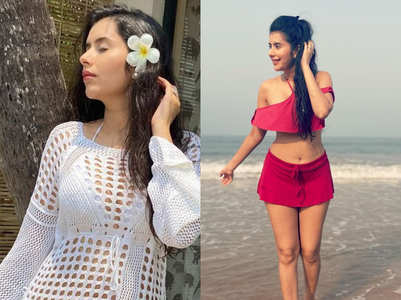 Charu Asopa's trendy beachwear, In pics