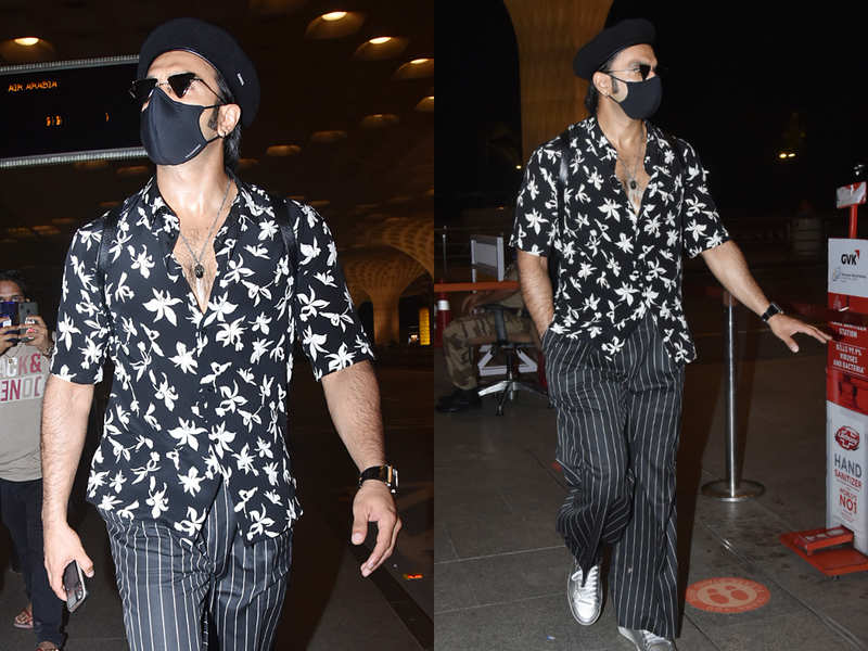 Ranveer Singh styles his floral shirt with striped pants, gives style lessons on summer dressing