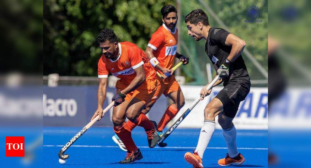 Indian men's hockey team plays out 4-4 draw against Argentina in practice match | Hockey News – Times of India