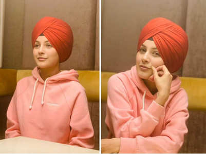Shehnaaz Gill sports a turban look; pics