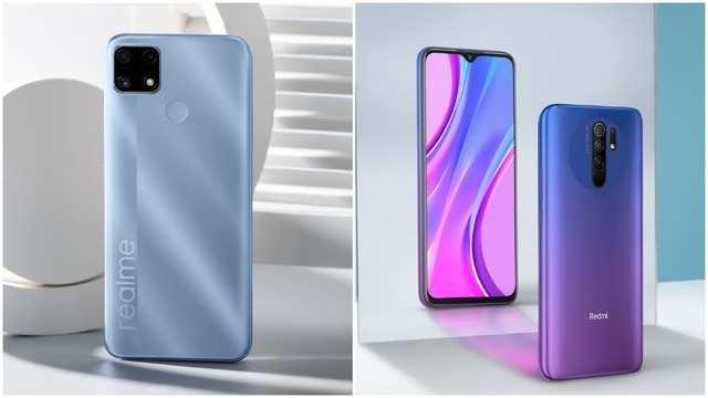 Realme C25 (left) vs Xiaomi Redmi 9 Prime (right)