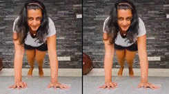 Watch Kaniha aces the plank challenge, video goes viral
