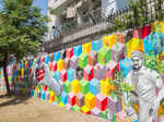 Artists depict Gurgaon's real-life heroes
