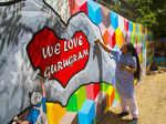 Artists depict Gurugram's real-life heroes through wall art