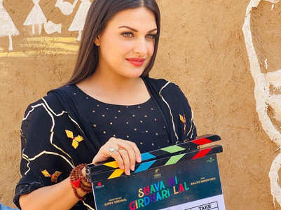 Himanshi Khurana on film with Gippy Grewal