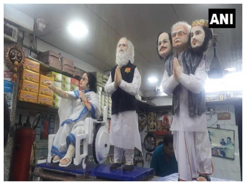 Kolkata shop makes sweets statuettes of PM Narendra Modi & CM Mamata Banerjee