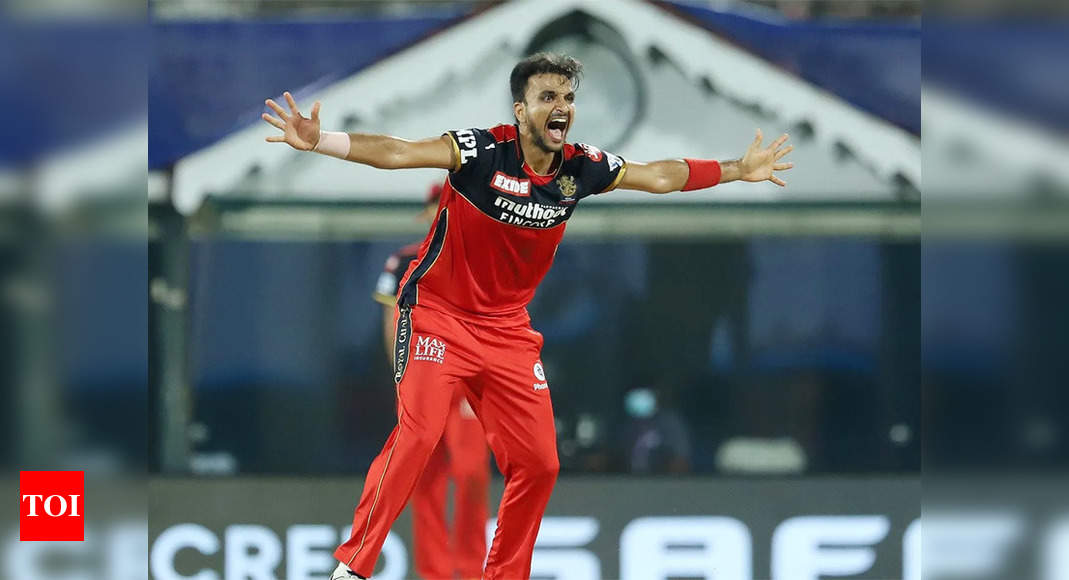 IPL: Harshal Patel becomes first bowler to take fifer against Mumbai Indians | Cricket News – Times of India