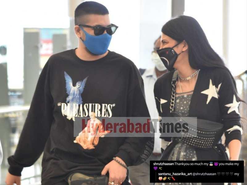 Shruti Haasan and Santanu Hazarika's adorable PDA leaves fans moon-eyed