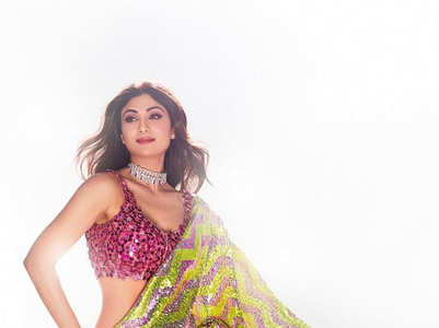 Bollywood beauties shine in sequined saris