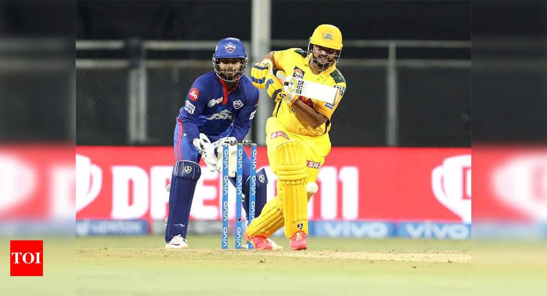 CSK vs DC, IPL 2021: Comeback man Raina, Sam Curran guide Chennai Super Kings to 188/7 | Cricket News – Times of India