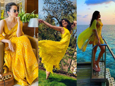 Celebrities show us how to wear yellow in summer