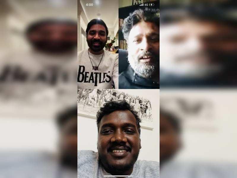 Mari Selvaraj receives surprise video call from Dhanush