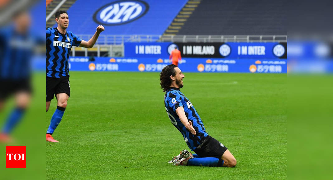 Serie A: Matteo Darmian the unlikely match winner as Inter close in on title