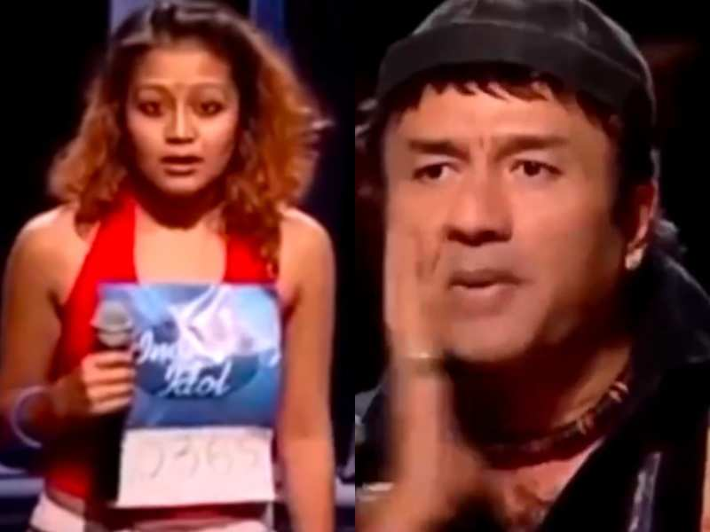 Watch: When Anu Malik slapped himself to express his disappointment with Neha Kakkar's singing during Indian Idol audition