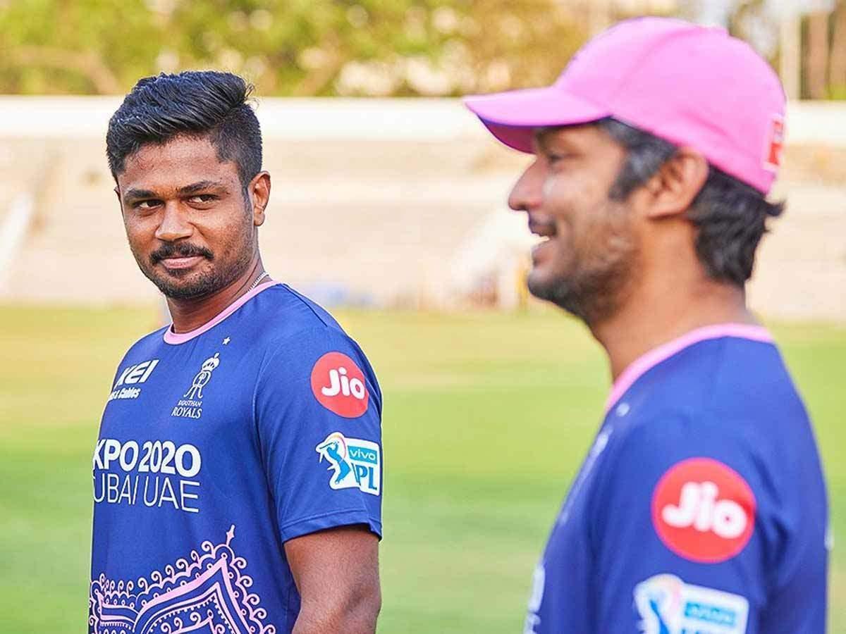 Sanju Samson With Kumar Sangakkara (RR Photo)
