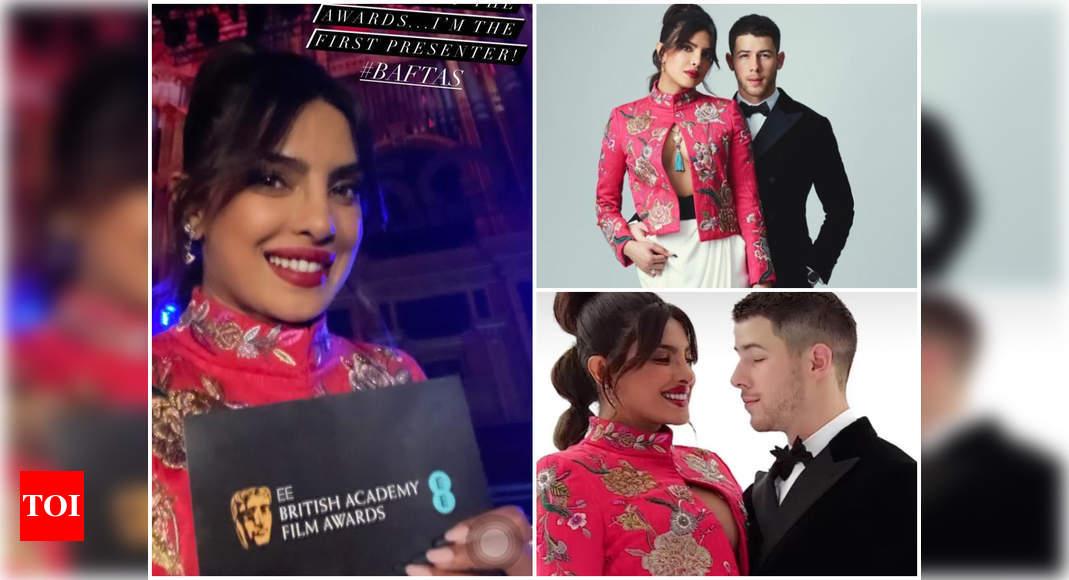 Priyanka & Nick arrive at BAFTA red carpet