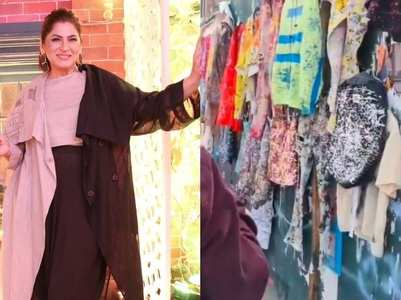Archana gives glimpse of street shopping