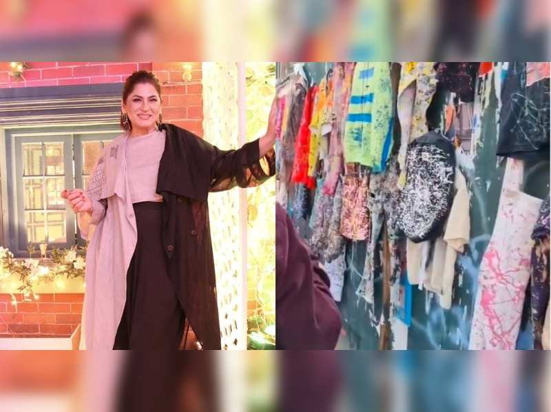 Archana Puran Singh gives a glimpse of street shopping in New York;  jokes, 'we throw our clothes after playing Holi but they are selling it'