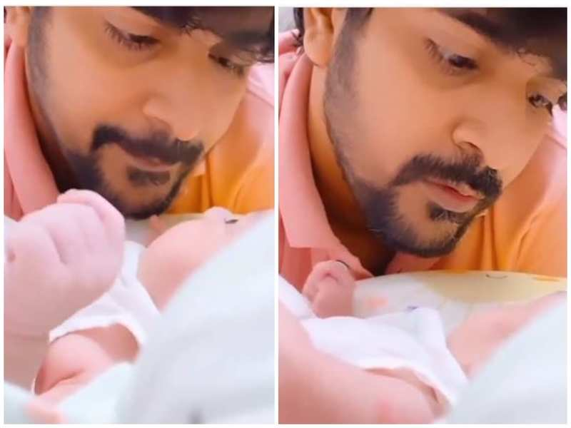 This video of Srinish Aravind's cute conversation with newborn daughter will make your day; watch