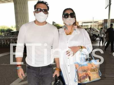 Pics: Govinda steps out after COVID recovery