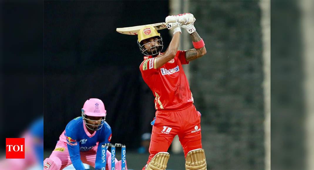 IPL 2021: Rahul, Hooda power Punjab Kings to 221/6 against Rajasthan Royals | Cricket News – Times of India