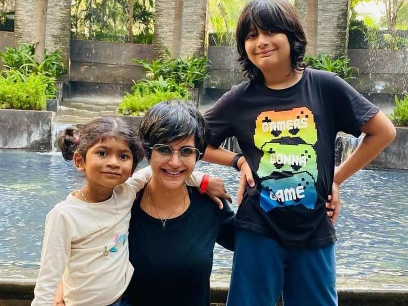 Mandira Bedi lashes out at Internet users who mock her by asking 'from which slumdog centre did you adopt your daughter?'