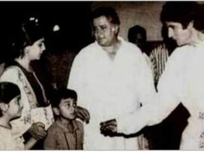 Big B shares a childhood pic of Ranbir