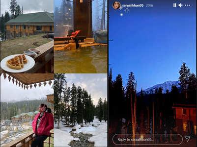 Sara shares mesmerising pics from Gulmarg