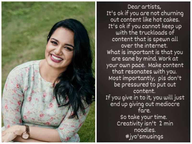 Pic courtesy: Instagram/ Jyotsna Radhakrishnan