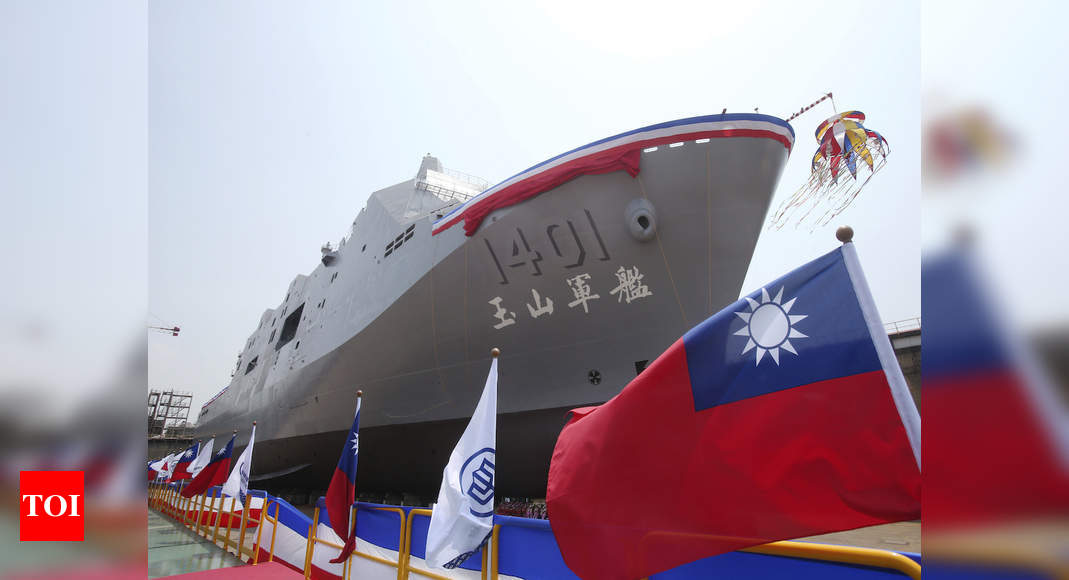 Taiwan bolsters navy with unveiling of new amphibious warfare ship